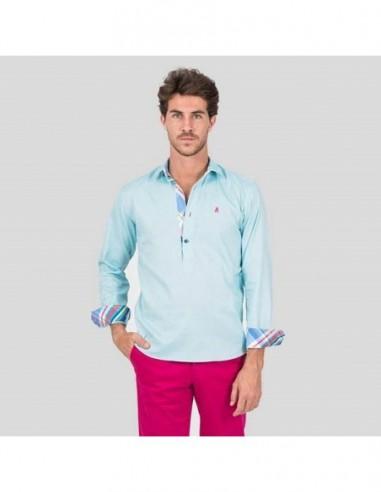 Classic Jaca La Tienda Polera Hombre Camisa Montti Prusia Wear EOwYfq